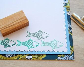 Happy Fish Olive Wood Stamp