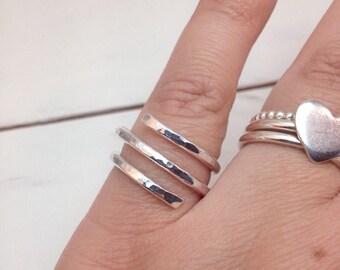 Wrap ring, Spiral Ring, Spiralled Ring, Coil Ring, Sterling Silver Silver Spiral Ring, Swirl ring,
