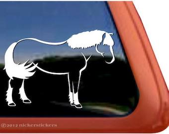 Plain Haflinger | DC436PL-R | High Quality Adhesive Vinyl Haflinger Horse Window Decal Sticker
