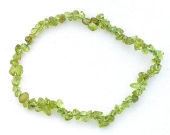 natural san carlos arizona Peridot chip bead stretch bracelet sb12