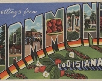 Hammond, Louisiana - Large Letter Scenes (Art Prints available in multiple sizes)
