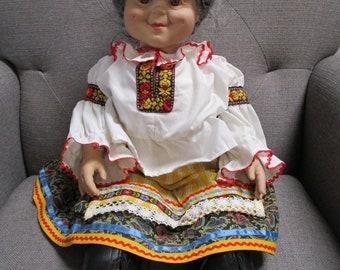 GrannyWorld Tradition 1993 / Grandma Doll / Polish Grandmother Doll