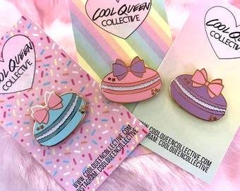 Macaron Bow Glitter Hard Enamel Pin