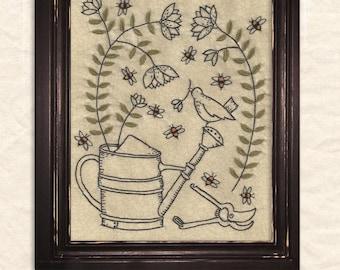 Garden Glory Embroidery Pattern by Kathy Schmitz - Joyful Journey Series