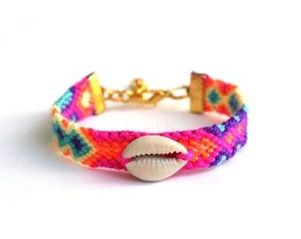 Cowrie Shell Friendship Bracelet.