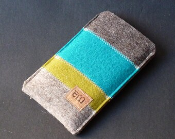 """Phone case, """"Lucky Stripes"""" with flap"""