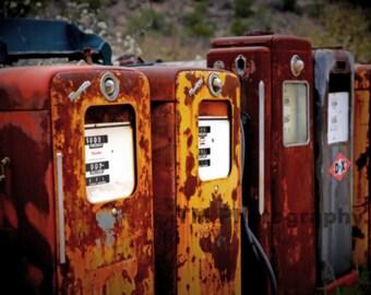 Antique Gas Pumps - Automotive Art - Old Gas Pumps - Automotive Photography - Fine Art Photography
