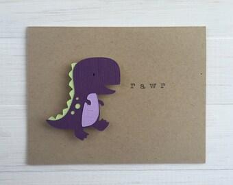 Rawr Dinosaur Card