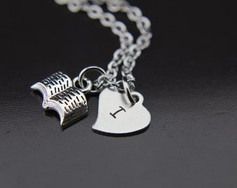 Book Lover Gift Silver Open Book Charm Necklace Silver Book Charm  Book Club Gifts Writers Pendant Author Gifts Writer Bookworm Gifts