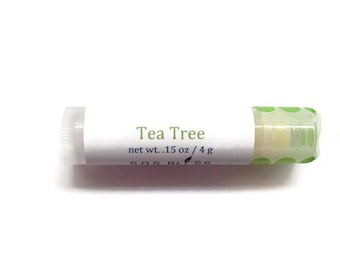 Tea Tree Lip Balm Essential Oil Lip Balm All Natural Vegan Lip Balm Lip Salve Lip Moisturizer Wholesale Lip Balms