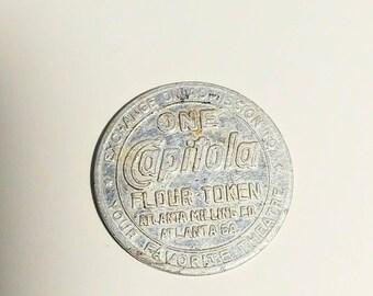 1950's Capitola Flour Token Atlanta Milling Company Movie Money Coin silver