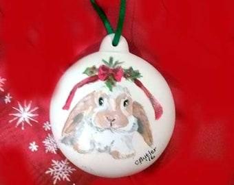 les animaux de compagnie ornement personnalisé peint à la main, ornement bisque, furbaby ornement, ornement de Noël, ornement de chien, ornement de lapin, ornement de porcelaine