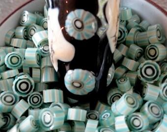Murrini Chips, Tropical, Lampwork Supplies, Enameling Supply, COE 104, Art Glass, Milli, Murrini Slices, Emerald City Glass, Marcie Page