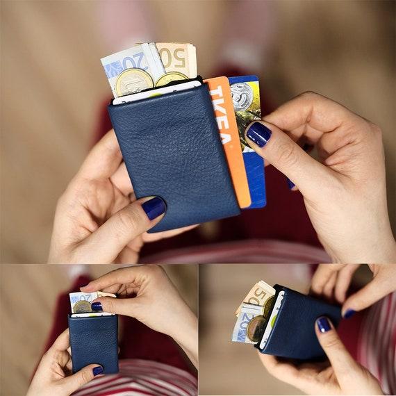 Mens Wallet, Minimalist Wallet, Womens Wallet, Leather Wallet, RFID Wallet, Limited Edition NERO Wallet - Groomsmen Gifts