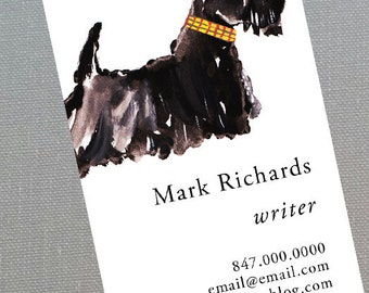 Scotty,Scotty Dog,Scottish Terrier, Personalized Business Cards - Set of 50