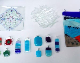 Fused glass LESSON - Intro to fused glass - Liverpool studio - 2.5 hour course - beginners workshop - art lesson - gift vouchers - UK