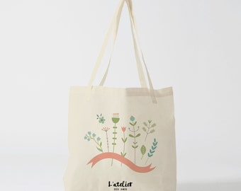 X38Y Tote bag nature pastel, bag canvas, cotton bag, shopping bag, bags and tote bag, computer bag, gift for friend
