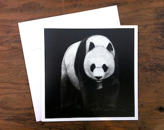 Giant Panda - Greeting card 12.5cm x 12.5cm