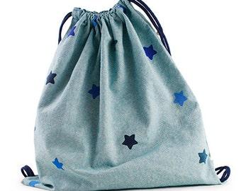 Backpack bag stamped star
