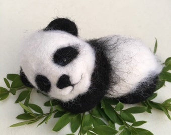 Handmade Felted Little Panda