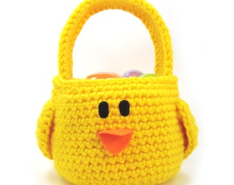 Chick - Easter Basket - Chicken - Toddler purse - Toy Tote - Springtime Crochet Pattern - DIY Easter