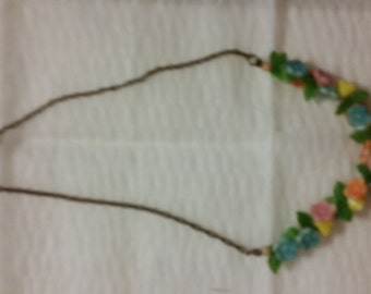 14 inch necklace plastic flower necklace