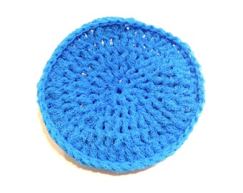 Blue Jewel Crocheted Nylon Netting Dish Scrubbie-Large