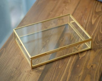"5x7"" Brass & Glass Photo Print Box"
