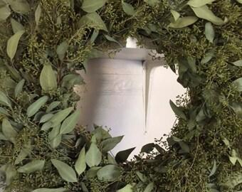 """Seeded Eucalyptus Wreath Dried- 20"""""""