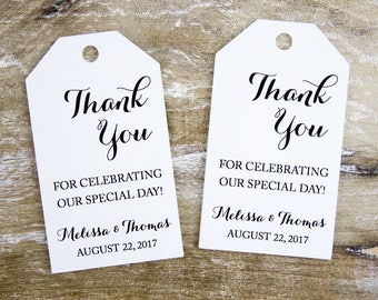 Thank you for celebrating our special day - Wedding Favor Tags - Custom Tags - Wedding Labels - Wedding Favor Ideas - LARGE 3.5 x 2 inches