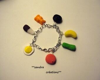 Candy candy charm bracelet