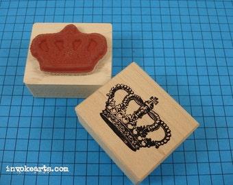 Royal Crown Stamp / Invoke Arts Collage Rubber Stamps