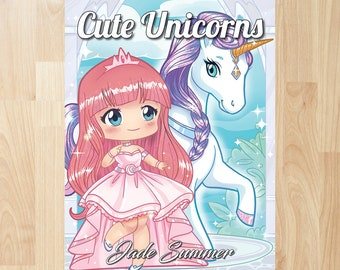 Cute Unicorns by Jade Summer (Coloring Books, Coloring Pages, Adult Coloring Books, Adult Coloring Pages, Coloring Books for Adults)