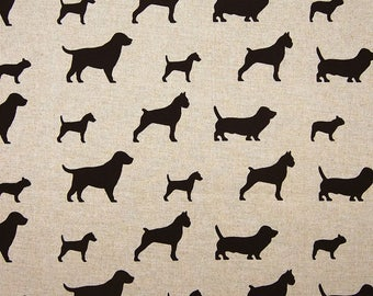 Decorator Fabric by the Yard - Best Friends Natural/Chocolate - by Premier Prints