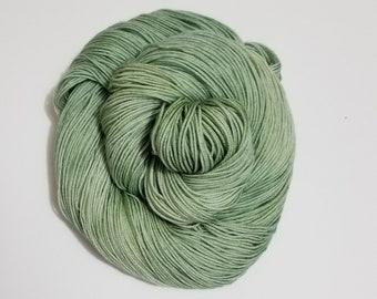 Sage, Hand Dyed Yarn, Sock Yarn, Merino, Nylon, Dye to Order,