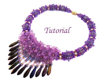 Tutorial Fiesta Necklace - Beading pattern pdf
