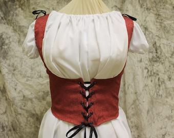 Red Renaissance Costume-Halloween Costume-Medieval Dress-LARP-Ren Fair-Steampunk-SCA-Adult Costume-Medieval Clothing-Fantasy Dress-Item #174