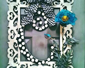 Shabby Chic Polka Dots Door Decor