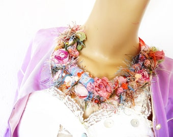 romantic textile collar party or wedding flowers