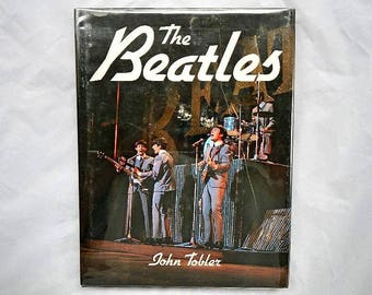 The Beatles 1984 Vintage Hardcover Book by John Tobler Printed in Italy
