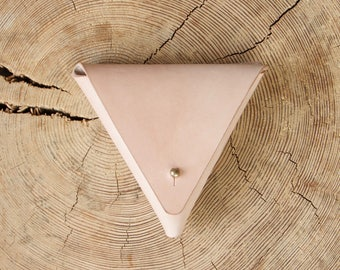 Leather Purse Leather Coin Pouch Leather Coin Purse Triangle Coin Holder Leather Wallet Change Purse Leather Money Purse Leather Pouch