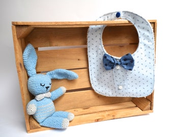 Gag Blue cashmere pattern with Papillon