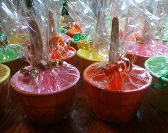 ICE CREAM Party Favors SALE / Custom Ice Cream Bowl with Spoon / Party Favors / Ice Cream Dish- Giftwrapped