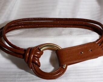 Vtg Size Large Four Strand Leather Belt
