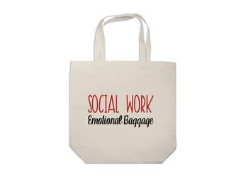 Social Work Emotional Baggage Tote