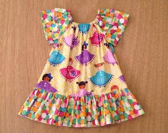 Size 2T girls peasant dress, little girls dress, dresses little girls, girls dresses size 2T dresses