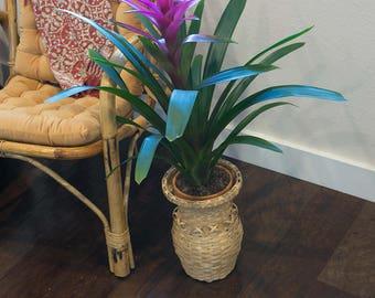 Hourglass Shaped Wicker Basket
