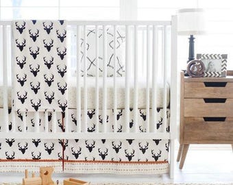 Deer Buck Forest in Night Baby Bedding Set