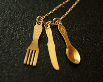 The Tiniest Restaurant Necklace