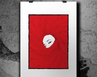 Red Hair - 13x19'' - Screenprint poster